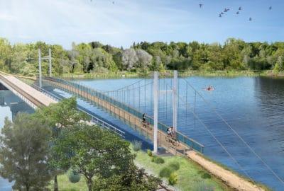 Newnham Rd Cycle bridge - DC Structures Studio & Edifice 2017