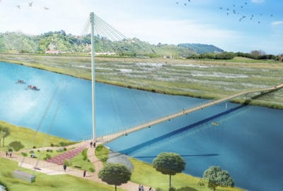 Whakatane River Pedestrian Bridge - DC Structures Studio - Image 1